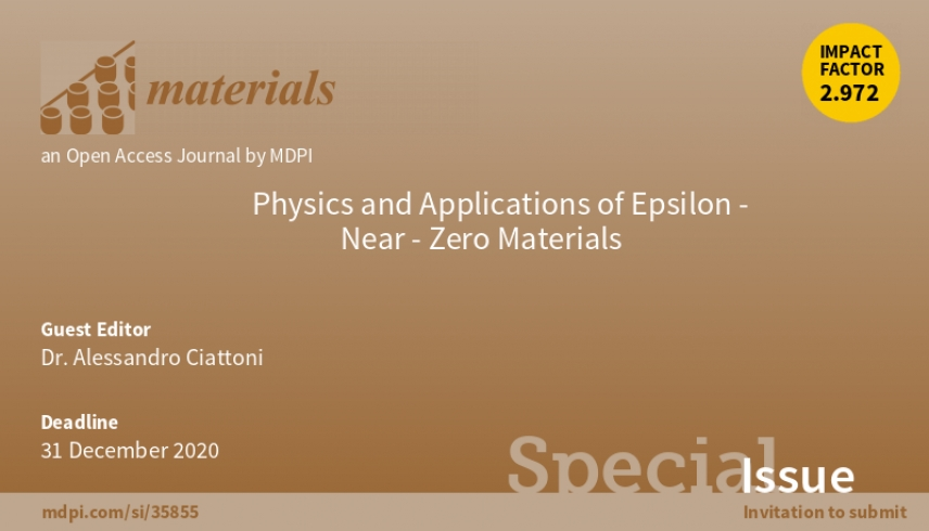 "Special Issue ""Physics and Applications of Epsilon-Near-Zero Materials"""