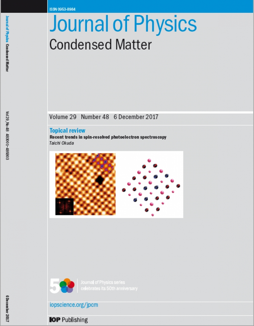 Journal of Physics Condensed Matter cover