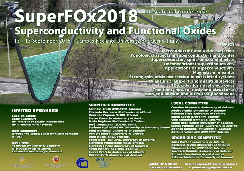 4th SuperFOx Conference on Superconductivity and Functional Oxides